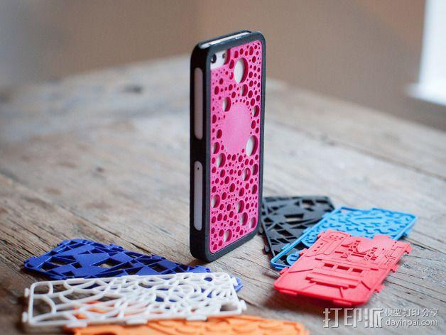 iPhone 5/5S胡须外壳 3D模型  图4