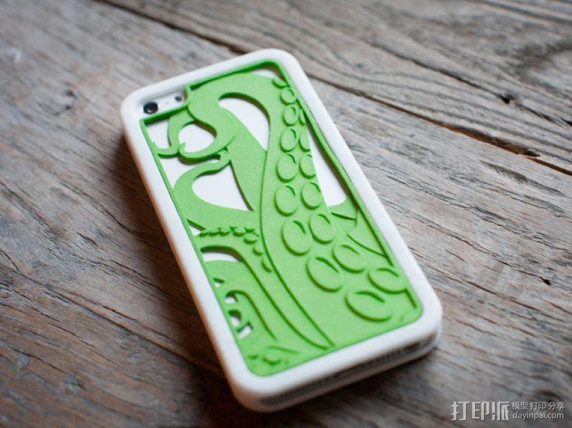 章鱼触手iPhone手机套 3D模型  图1