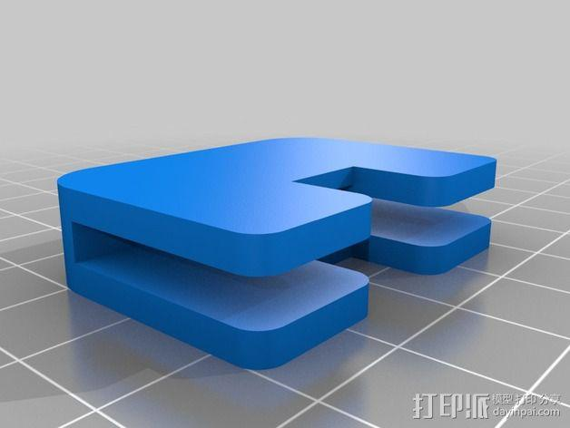GoPro 相机打印床支架 3D模型  图3