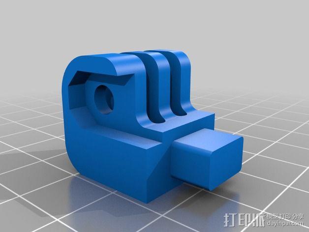GoPro 相机打印床支架 3D模型  图2