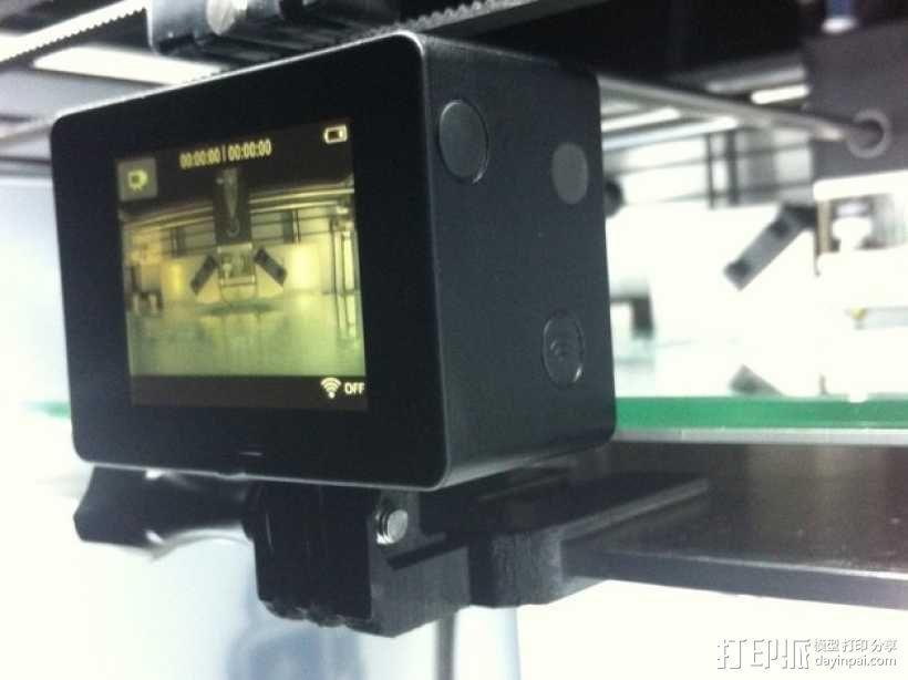 GoPro 相机打印床支架 3D模型  图1