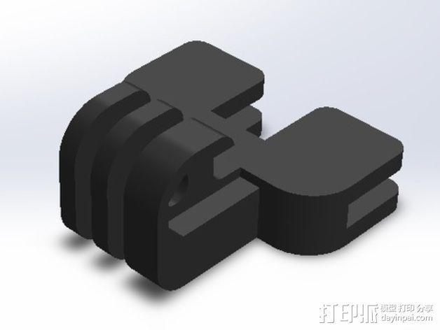 GoPro 相机打印床支架 3D模型  图4