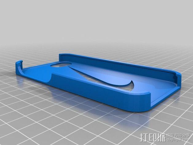 耐克标志iPhone5手机保护壳 3D模型  图2