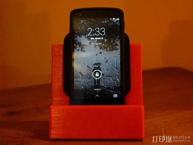 Nexus 5 & 7手机充电座 3D模型  图1