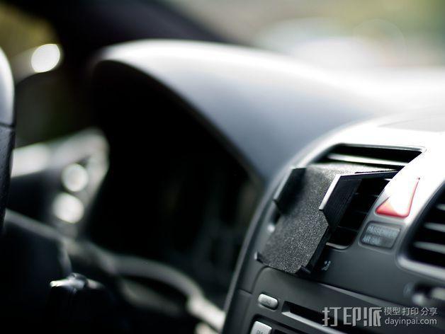 车载式iPhone5手机架 3D模型  图2