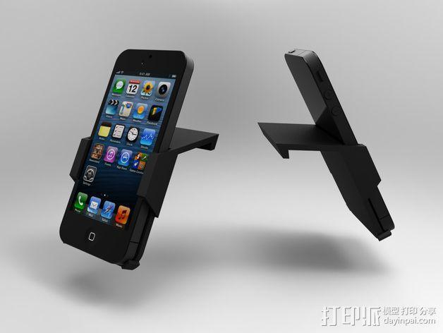 车载式iPhone5手机架 3D模型  图3