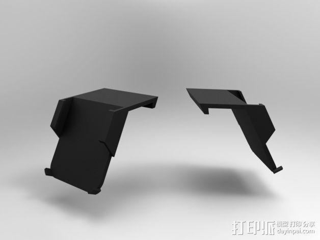 车载式iPhone5手机架 3D模型  图4
