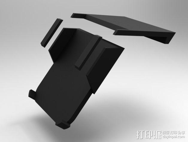 车载式iPhone5手机架 3D模型  图6
