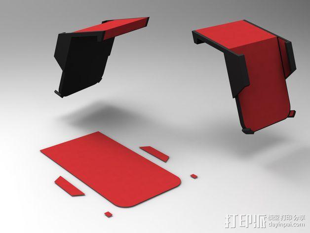 车载式iPhone5手机架 3D模型  图5
