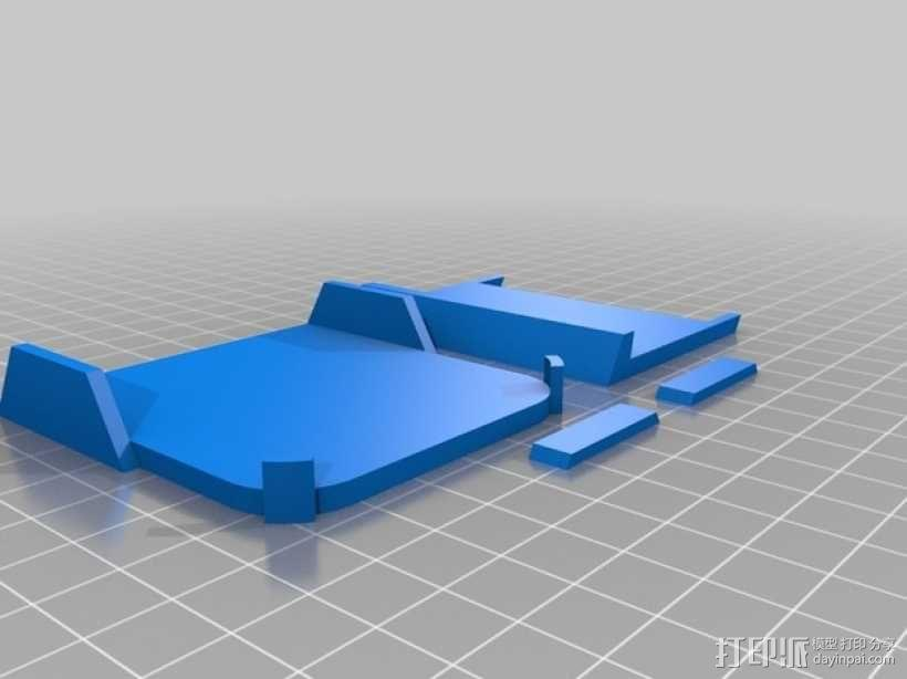 车载式iPhone5手机架 3D模型  图11
