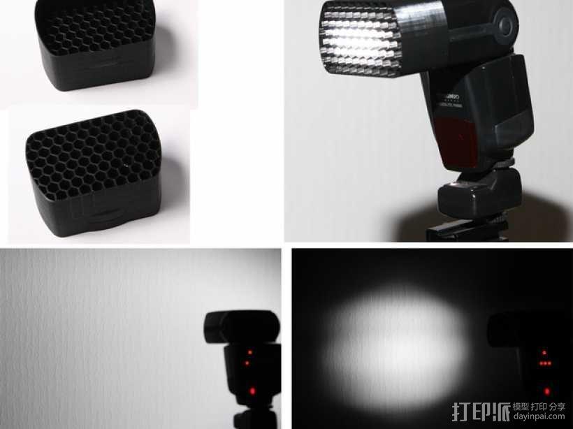 Yongnuo YN-560 相机闪光灯保护罩 3D模型  图1