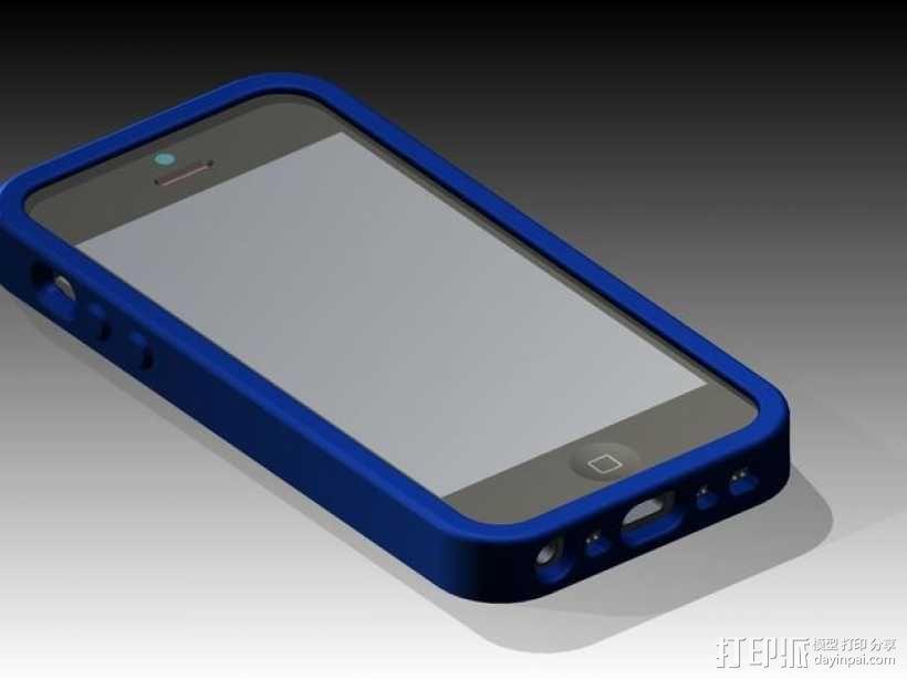 有弹性的iPhone 5/5s手机外壳 3D模型  图1