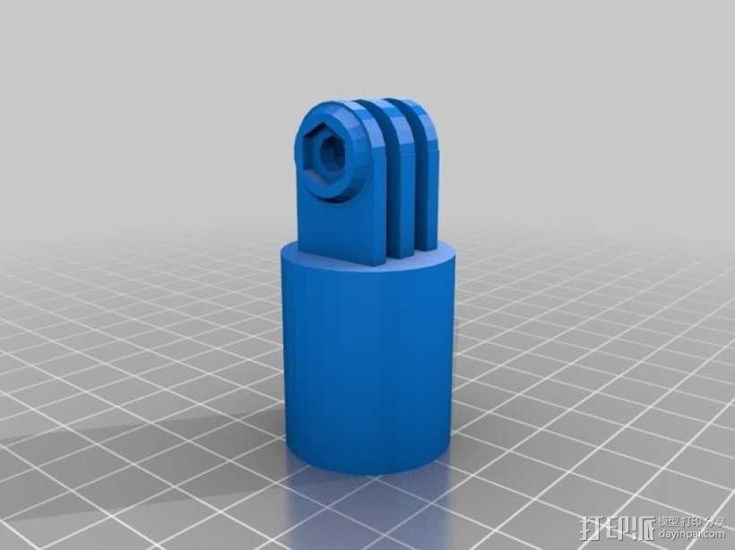 GoPro相机支撑架连接部件 3D模型  图1