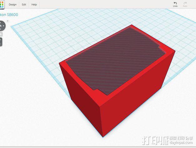尼康相机闪光灯保护罩 3D模型  图9