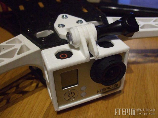 GoPro Hero 3相机四轴支撑架 3D模型  图2