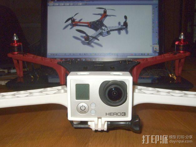 GoPro Hero 3相机四轴支撑架 3D模型  图4