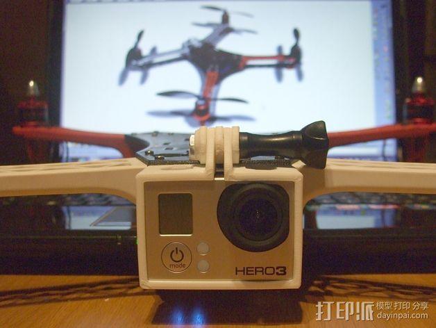 GoPro Hero 3相机四轴支撑架 3D模型  图3
