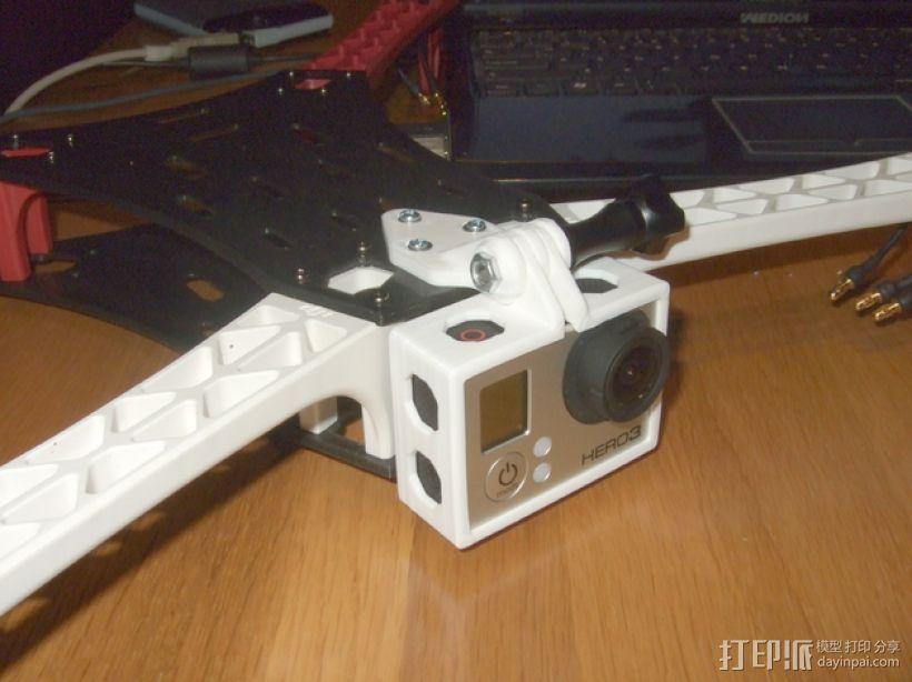 GoPro Hero 3相机四轴支撑架 3D模型  图1