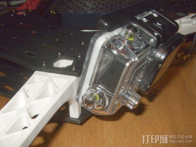GoPro Hero 3相机四轴支撑架 3D模型  图7