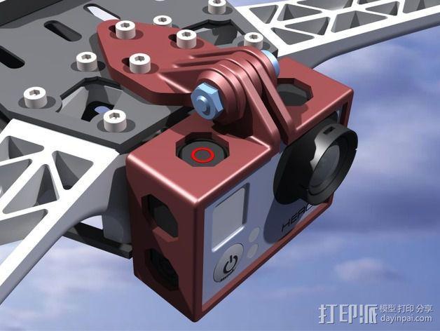 GoPro Hero 3相机四轴支撑架 3D模型  图9