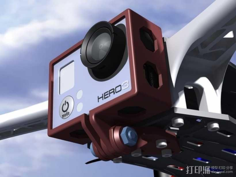 GoPro Hero 3相机四轴支撑架 3D模型  图11