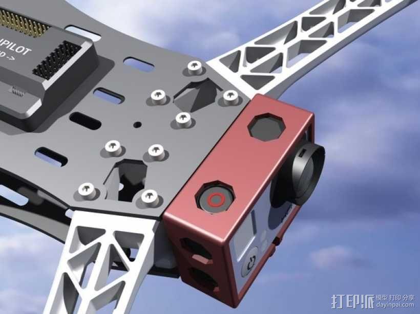 GoPro Hero 3相机四轴支撑架 3D模型  图12