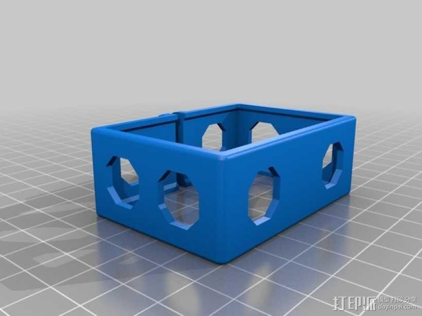 GoPro Hero 3相机四轴支撑架 3D模型  图13