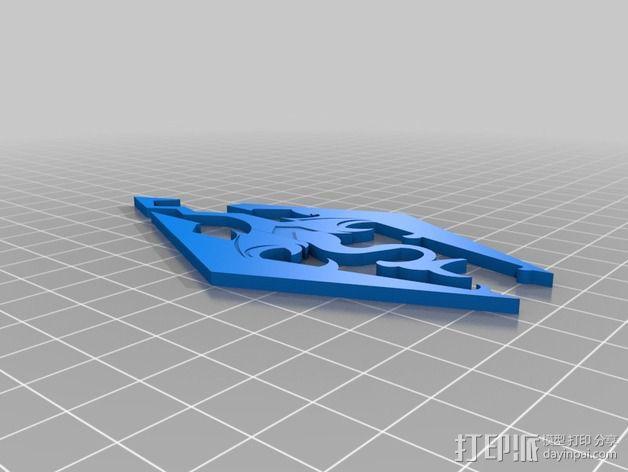 天际上古卷轴 标志 3D模型  图3