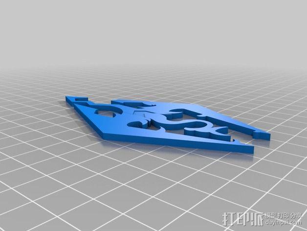 天际上古卷轴 标志 3D模型  图2