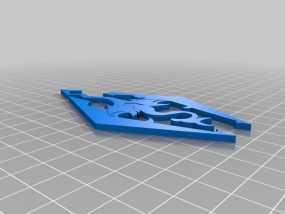 天际上古卷轴 标志 3D模型
