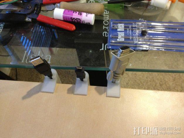 电缆夹  3D模型  图3