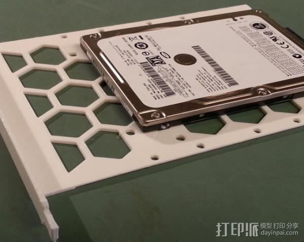 电脑硬盘支架 3D模型  图3
