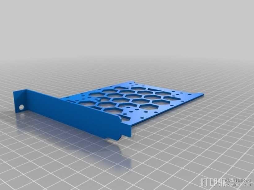 电脑硬盘支架 3D模型  图1
