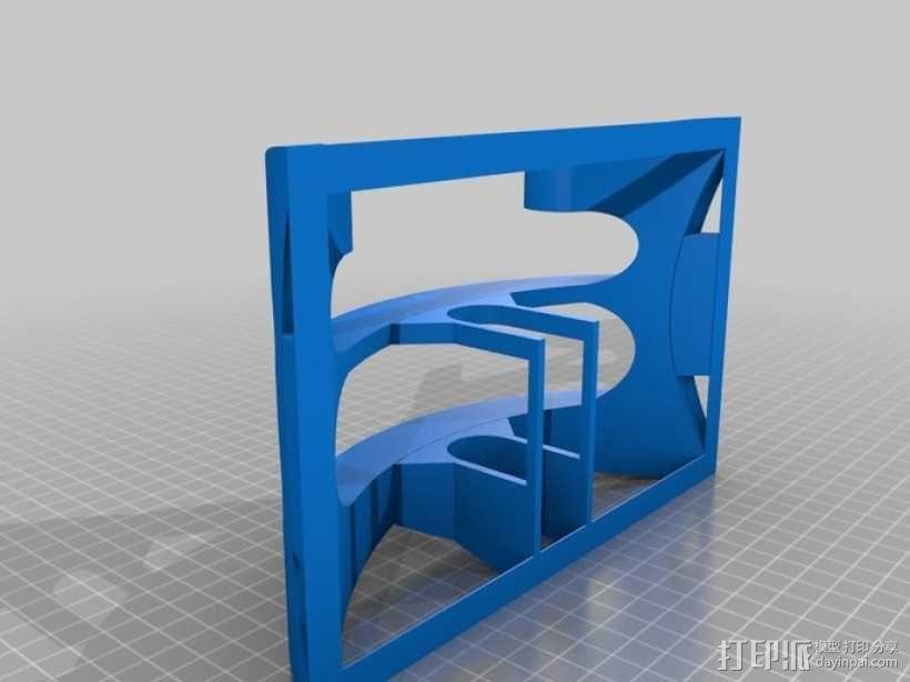 Mac Book/iPad 电脑支撑架 3D模型  图2