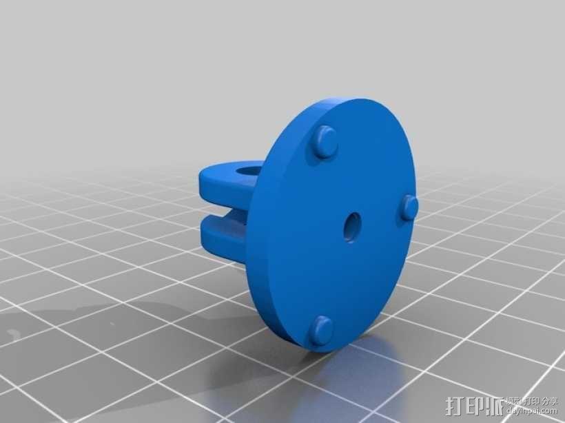 相机支撑架平移装置 3D模型  图3