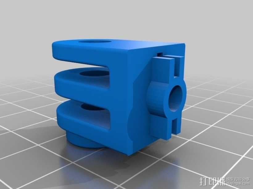 相机支撑架平移装置 3D模型  图4