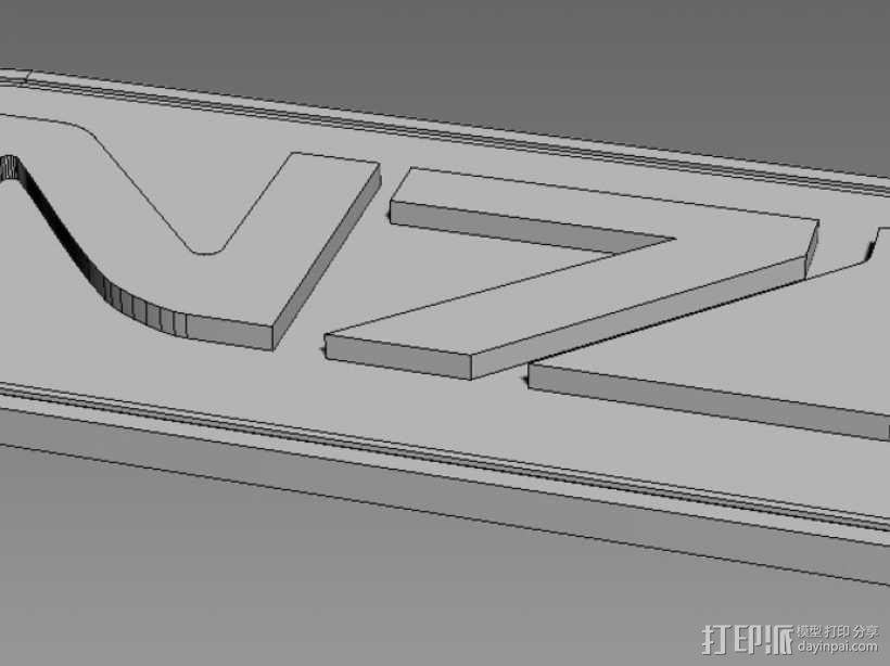 质量效应Mass Effect N7 宠物标签 3D模型  图2