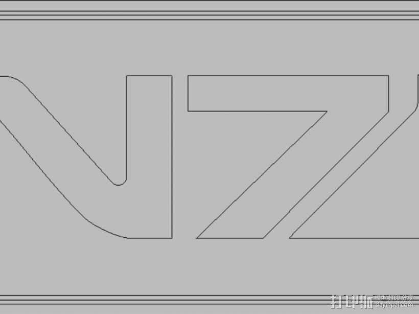 质量效应Mass Effect N7 宠物标签 3D模型  图3