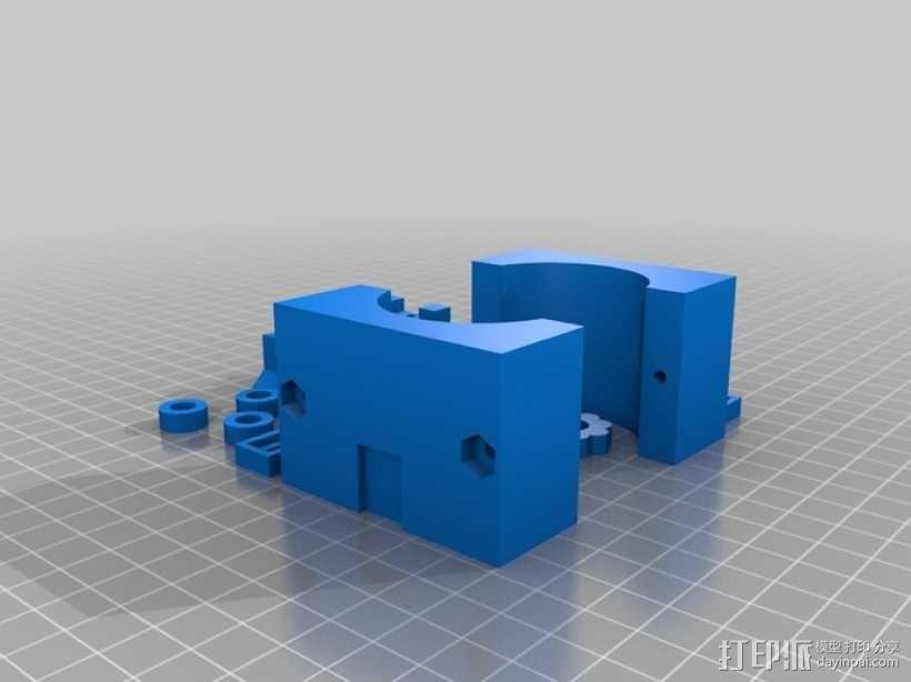 通用式手机座 望远镜适配器 3D模型  图7