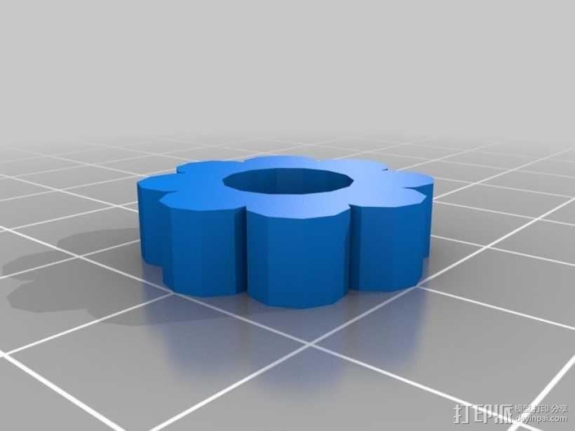 通用式手机座 望远镜适配器 3D模型  图12