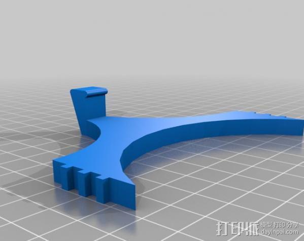 车载式平板电脑支撑架 3D模型  图3