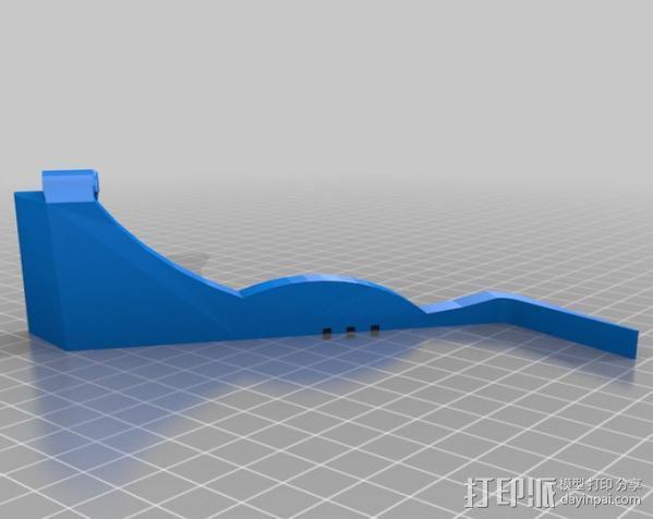 车载式平板电脑支撑架 3D模型  图2