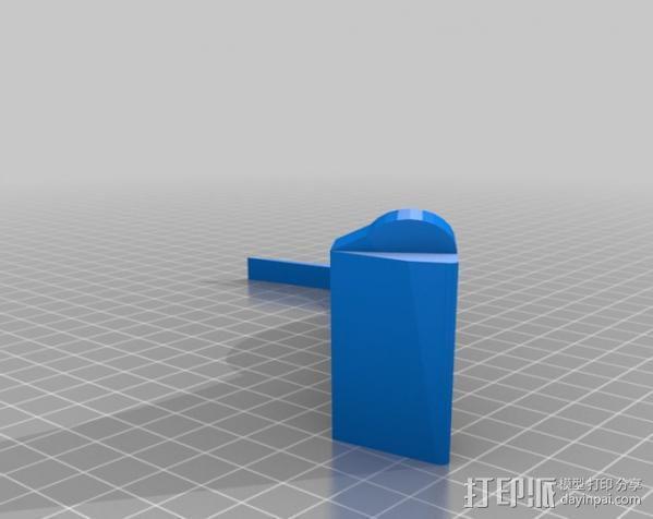 车载式平板电脑支撑架 3D模型  图4
