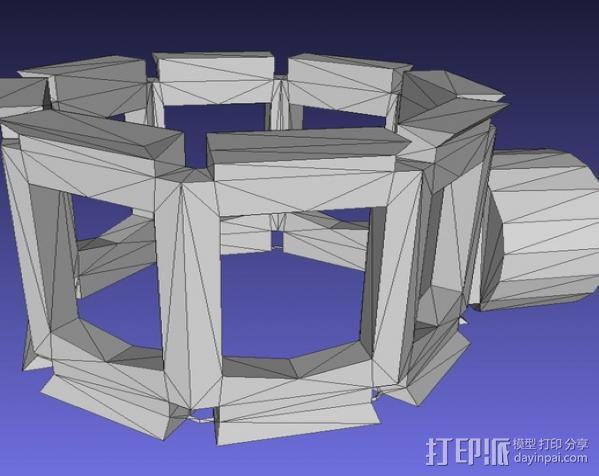 麦克风减震器支架 3D模型  图5
