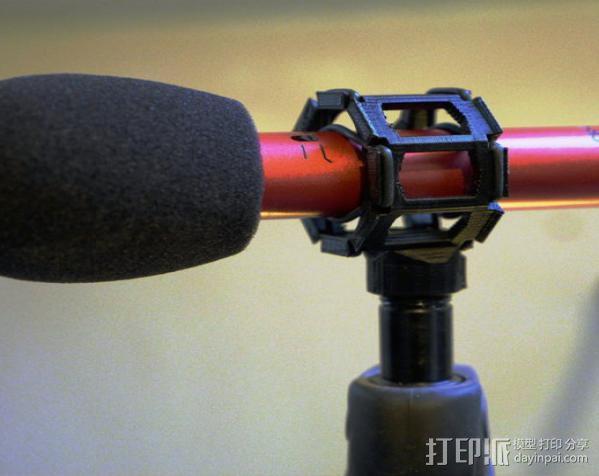 麦克风减震器支架 3D模型  图3