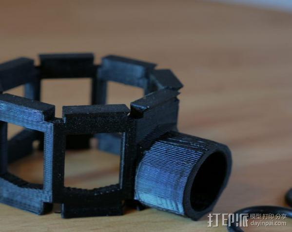 麦克风减震器支架 3D模型  图4