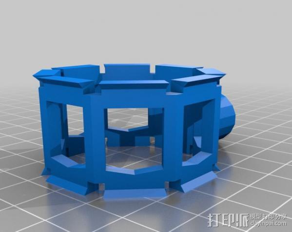 麦克风减震器支架 3D模型  图2