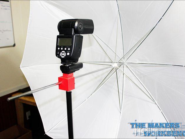摄影反光伞固定器 3D模型  图1