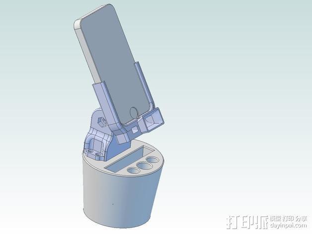 车载式iPhone手机座 扩音器 3D模型  图1