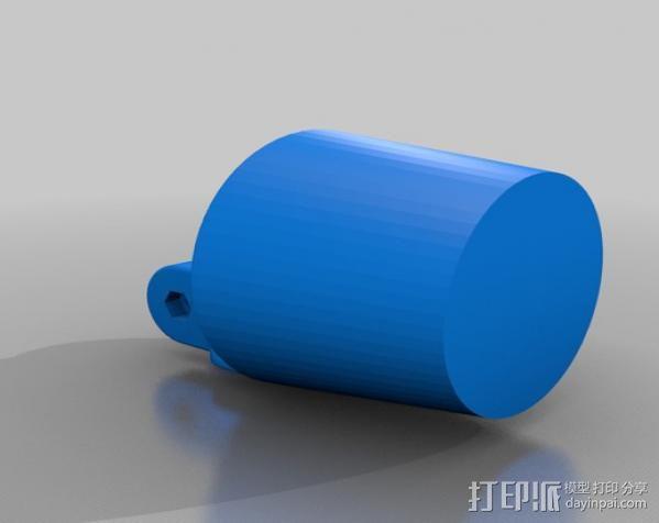 车载式iPhone手机座 扩音器 3D模型  图3